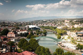 Wiev of Tbilisi city — Stock Photo