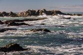 Dangerous sharp sea rocks — Stock Photo