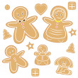 Gingerbread man — Stock Vector