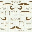 Stock Vector: Mustaches seamless
