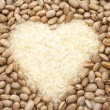 Stock Photo: Rice and beans heart