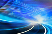 Abstract Speed motion in highway road tunnel — Stock Photo