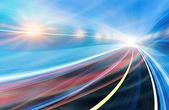 Mouvement abstrait de vitesse dans le tunnel de l'autoroute — Photo