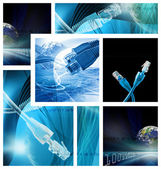 Abstract illustration for global communications network — Stock Photo