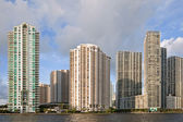 Miami Florida panorama of downtown residential and office buildings — Stock Photo