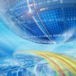 Abstract global technology background — Stock Photo