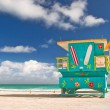 Stock Photo: Miami Beach Florida, lifeguard house