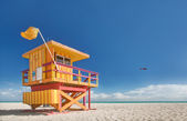 Miami Beach Florida, lifeguard house — 图库照片