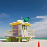 Miami Beach Florida, lifeguard house — Stock Photo
