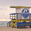 Colorful lifeguard tower in Miami Beach Florida — Stock Photo #18403581