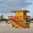 Miami Beach Florida, lifeguard house in early morning - Stock Photo