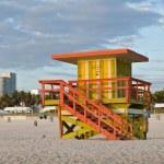 Miami Beach Florida, lifeguard house in early morning — Stock Photo #18403605