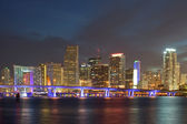 Miami Florida downtown buildings at night — Stock Photo