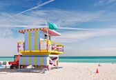 Miami Beach Florida, lifeguard house — Стоковое фото