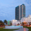 Miami Beach Florida, public park and buildings — Stock Photo