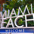 Stock Photo: Miami Beach Florida, welcome sign