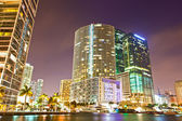 City of Miami Florida colorful night panorama of downtown — Stock Photo