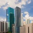 City of Miami Florida colorful panorama of downtown — Stock Photo