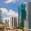 City of Miami Florida colorful panorama of downtown - Stock Photo