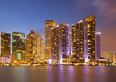 Město miami florida barevné panorama města — Stock fotografie
