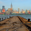 Stock Photo: New York City, USA, skyline panoramof Manhattbuildings