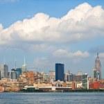 New York City, USA colorful skyline panorama — Stockfoto