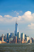 New York City, USA colorful skyline panorama — Stock Photo