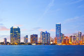 Miami Florida business and residential buildings at sunset — Stock fotografie