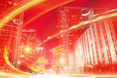 Abstract background illustration of fast traffic motion — Stock Photo