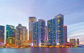 майами флорида деловых и жилых зданий на закате — Стоковое фото