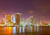 Miami Florida business and residential buildings at sunset — Stock Photo