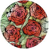 Rose afdrukken — Stockfoto