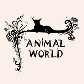 "Decorative frame ""Animal world"" — Stock Photo"