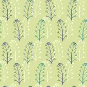 Sömlös vektor blommönster — Stockvektor