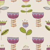 Vector flower pattern — Stock Vector