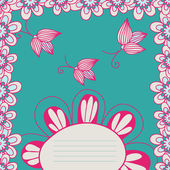 Vector floral frame — Stock Vector