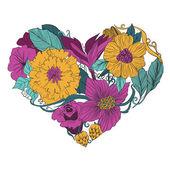 Vector bloem hart — Stockvector