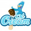 Penguin with Ice Cream — Stock Vector #19557855