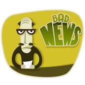 Bad news — Stock Vector