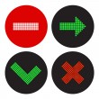 A set of icons in the style of a traffic light — Stock Vector #42846957