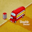 Vector illustration of London Double decker bus — Vector de stock