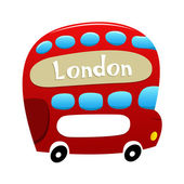 London Double Decker Bus — Stock Vector