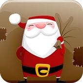 Sants Claus icon — Vector de stock