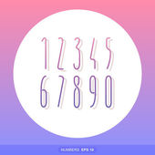Set of Narrow Numbers vector — Stock Vector