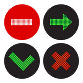 A set of icons in the style of a traffic light — Stock Vector