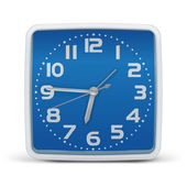 Clock blue - vector — Stock Vector