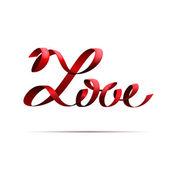 Love ribbon — Stock Vector