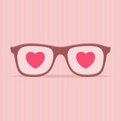 Love glasses - Valentines day illustration — Stock Vector