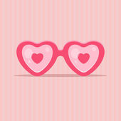 Love glasses in shape of heart — Stock Vector
