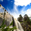 Beautiful waterfall in the Novosibirsk, Russia — Stock Photo